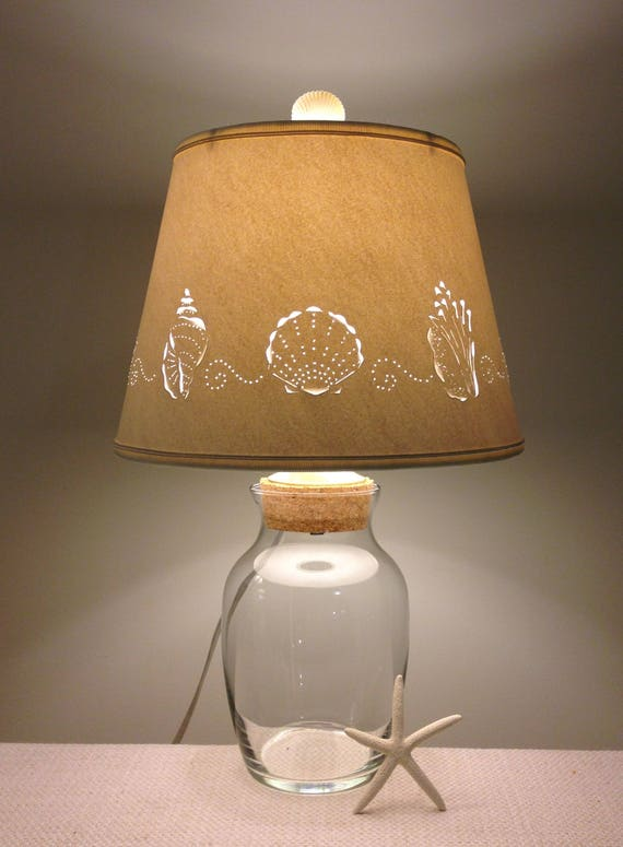 Add your Own Seashell Lamp Fillable Lamp Shell Lamp