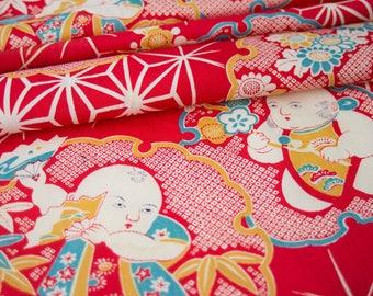 Japanese Shinto Baby Design - Kimono Fabric - LAST PIECE