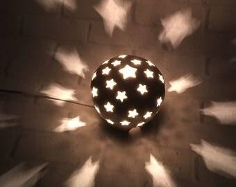 Starry Nights Nursery Light, Stars Lamp, White Nursery Light, Night Light Kids Nursery, Nursery Decor, Mood Lighting, Baby Shower Gift