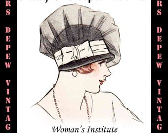 Vintage Woman's Institute Millinery Book 1920's Fancy & Draped Crowns Ebook How To -INSTANT DOWNLOAD-