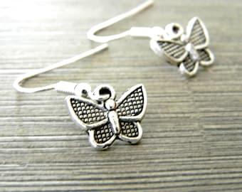 Silver Color Butterfly Earrings Dangle Earrings