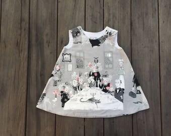 Ghastly Night, Spooky Girls Dress, Cotton, Sundress, Creepy, Boutique, Avant Gard, Halloween, Scary, Girl, Baby, Tunic, Jumper, Dress