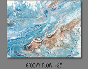 Groovy Abstract Acrylic Flow Painting #25 Ready to Hang 8x10