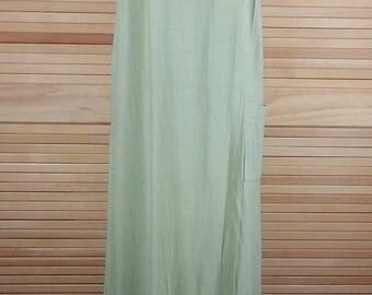 Vintage 70s green rayon jumper dress Saint Tropez West Size 12 chest 40