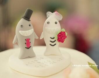 Sharks Wedding Cake Topper