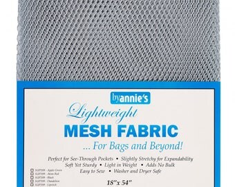 Mesh fabric Light Weight--18 inch x 54 inch Pocket Mesh Pewter Gray Grey Silver