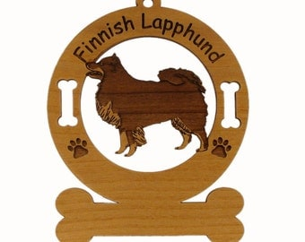 3188 Finnish Lapphund Standing  Personalized With Your Dog's Name