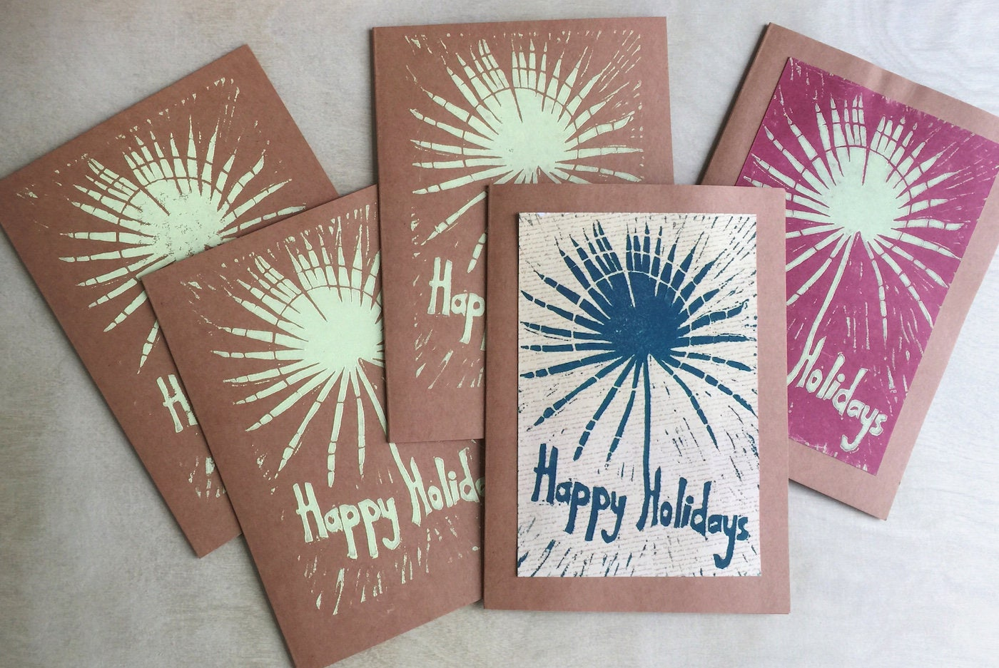 holiday card sale five christmas cards handmade holiday cards tropical holiday cards - Christmas Card Sale