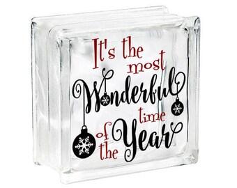 Christmas Vinyl Etsy - Nativity vinyl decal for glass block light