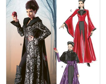 Once Upon a time - Costume Sewing Pattern - McCalls m6818 - Evil Queen - Uncut pattern Sizes: 4-6-8-10-12 or 12-14-16-18-20