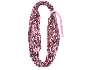 Valentines Day Gift, Valentines Gift, Brown and Pink Cowl Scarf, Gift for Her, Women's Gift, Girlfriend Gift, Boyfriend Gift