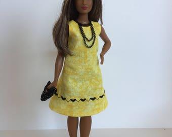 Handmade Curvy Barbie Clothes Dress Designs by P D Reneau (G904)