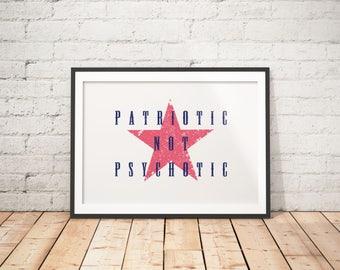 Patriotic Wall Decor, Patriotic Printable, Patriotic Prints, Patriotic Poster, Protest Printable, Protest Poster, Protest Wall Art