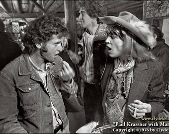 PAUL KRASSNER with MARJORIE, Ken Kesey bash, Clyde Keller photo, 1976
