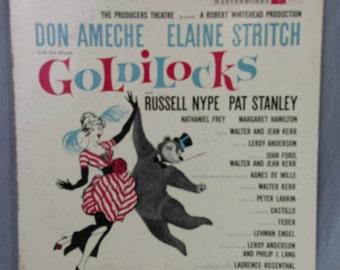 "Goldilocks Soundtrack Record Vintage 12"" Vinyl LP Album Don Ameche Columbia Masterworks OL 5340"