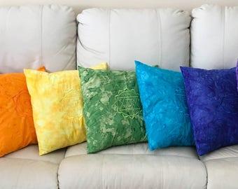 Throw Pillow - Chakra Pillow - Sacred Geometry - Pillow Cover - Throw Pillow Cover - Zen Decor - Chakra Throw Pillow - Meditation - Reiki
