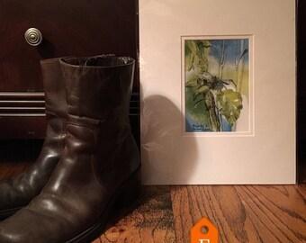 Print, Banana Tree Garden, Texas landscapes, tropical decor watercolor