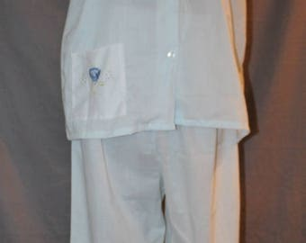 Vintage Pale Blue Pajamas,, Size 40, by Katz Pajamas