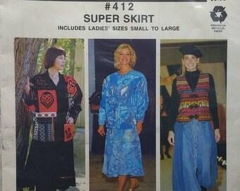 Ladies Super Skirt Pattern Macphee Patterns 412 Ladies sizes small to large
