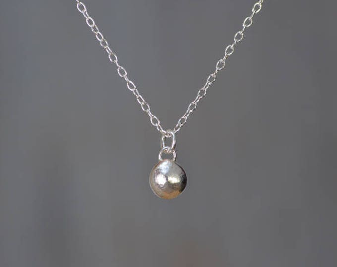 Silver Pebble Necklace, Gold Pebble necklace, Bridesmaid Necklace, Handmade In The UK