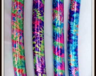 "The 'HAPPY HiPPIE' Tie Dye Hoop!  Choose ANY Size & Polyro Or 1/2"" Advanced PE Tubings!"