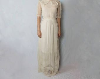 Antique Vintage Wedding dress 1900 1920 1930 ?