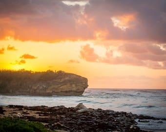Hawaiian Fine Art Canvas wrap- Shipwrecks Beach Kauai, Hawaii- Poipu- Sunrise