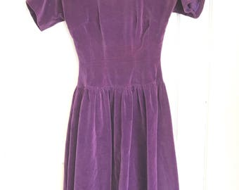 Vintage purple velvet dress Murray Millman California