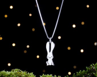 Sterling Silver Baby Bunny - Small, Double Sided - (Charm, Necklace, or Earrings)