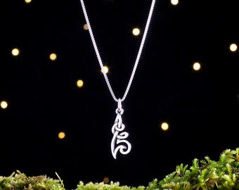 Sterling Silver Celtic Flower Knot - Small, Double Sided - (Charm, Necklace, or Earrings)