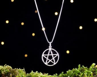 Sterling Silver Pentacle - Double Sided - (Pendant, Necklace, or Earrings)