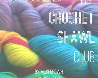 The Crochet Shawl Club : 3 Box Subscription