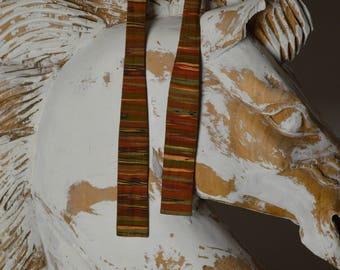 Vintage Bow Tie, Mens Bow Tie, Orange Bow Tie, Silk Bow Tie, Stripped Bow Tie, 80s Bow Tie, 1980s Bow Tie, Men's Ties, Necktie