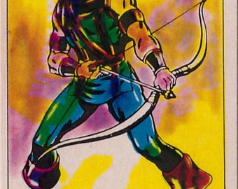 Rare 1980 Marvel Super Heroes The Archer 225 Sticker