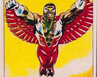 Rare 1980 Marvel Super Heroes Falcon 191 Sticker