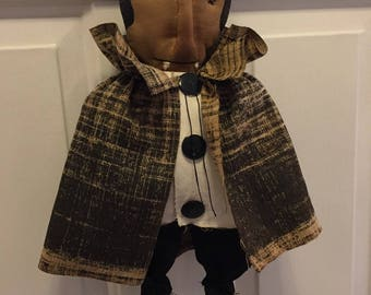FAB~hALLOWEEN~DRACULA~DOLL~dECORATION~pRIMITIVE~hANDMADE~uNIQUE~dOOR~gREETER~wALL~hANGING~sHELF~sITTER~rEADY~tO~hANG~lIGHT~sCENT~