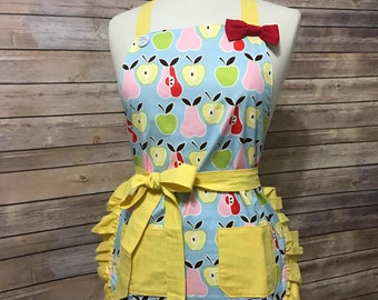 Apple & Pear Print Apron