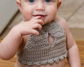 Baby Girl Summer Outfit Boho Outfit Mermaid Top, Girls Summer Outfit Boho Outfit Mermaid Top, Birthday Cake Smash Outfit Summer, Halter Top