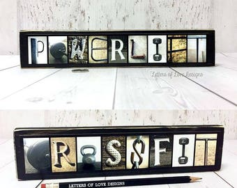 Crossfit Sign, Crossfit Gift, Crossfit Wall Art, Powerlift Powerlifting Weightlifting Sign Gift, Workout Gift, Gym Sign Gift, Fitness Gift