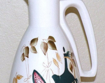 Mid Century Pitcher with Cork Stopper