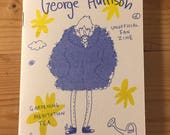 George Harrison Unofficial Fan Zine by Lizz Lunney and Wilm Lindenblatt Beatles Art + Free Postcard!