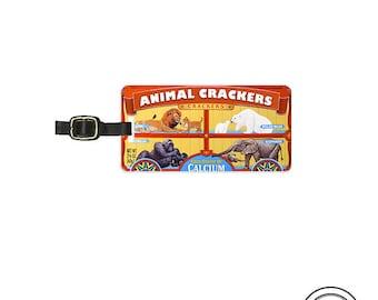 Luggage Tag Animal Crackers Retro Cookies Circus Animals Custom Luggage Tag  Metal Tag Luggage Tag , Single Tag