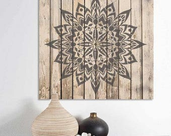 Mandala Stencil New Tribe - Mandala Stencil for Furniture, Walls, or Floors - DIY Home Decor - Better than Decals