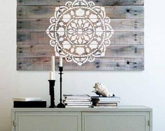 Mandala Stencil Atma - Mandala Stencil for Furniture, Walls, or Floors - DIY Home Decor - Better than Decals
