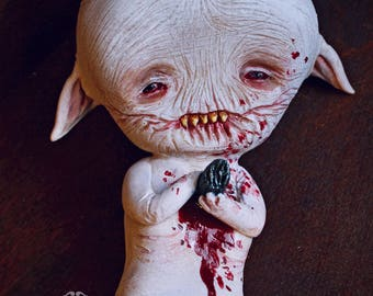 EXTRA SALE!! - Dimitri Tiritrirrr - art doll ooak pure sculpt creature creatures demon doll devil broken horns halloween doll
