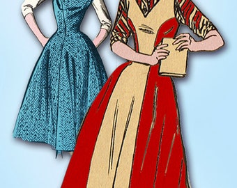 1950s Vintage Mail Order Sewing Pattern 3029 Uncut Teen Misses Jumper Dress 29B