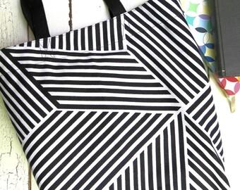 Tote Bag  - Zebra - canvas Totes, market bag, library bag, shopping bag book bag, purse, flower tote, beach tote, teacher tote bucket tote