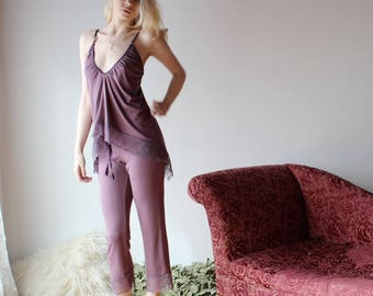 bamboo sleepwear camisole with lace trim - NOUVEAU bamboo sleepwear range - made to order