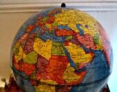 World Globe, Scholastic World Globe, Student Globe, Vintage 1970s Globe