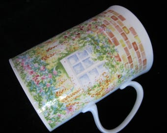 Dunoon COTTAGE GARDEN Noelle Malkin Bone China Mug England